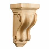 01605001AK1 Full Corinthian Decorative Wood Corbel Red Oak