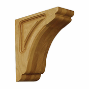 01601010AK1 Full Cosmo Decorative Wood Corbel Red Oak