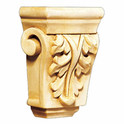 01901009CH1 Petite Acanthus Hand Carved Corbel Cherry