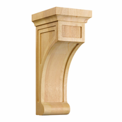 01606001AK1 Full Shaker Wood Corbel Red Oak