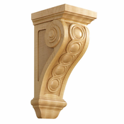 01601535AK1 Bijou Decorative Wood Corbel Red Oak