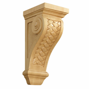 01602570AK1 Full Weaved Decorative Wood Corbel Red Oak