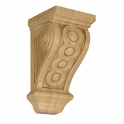 01600535AK1 Full Carved Wood Bijou Corbel Red Oak
