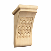 01602070AK1 Full Weaved Decorative Wood Corbel Red Oak