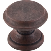 "Top Knobs - Dakota Collection - Flat Top Knob 1 3/8"" - Patina Rouge - M1231"