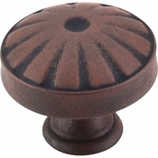 "Top Knobs - Dakota Collection - Hudson Knob 1 1/4"" - Patina Rouge - M1222"