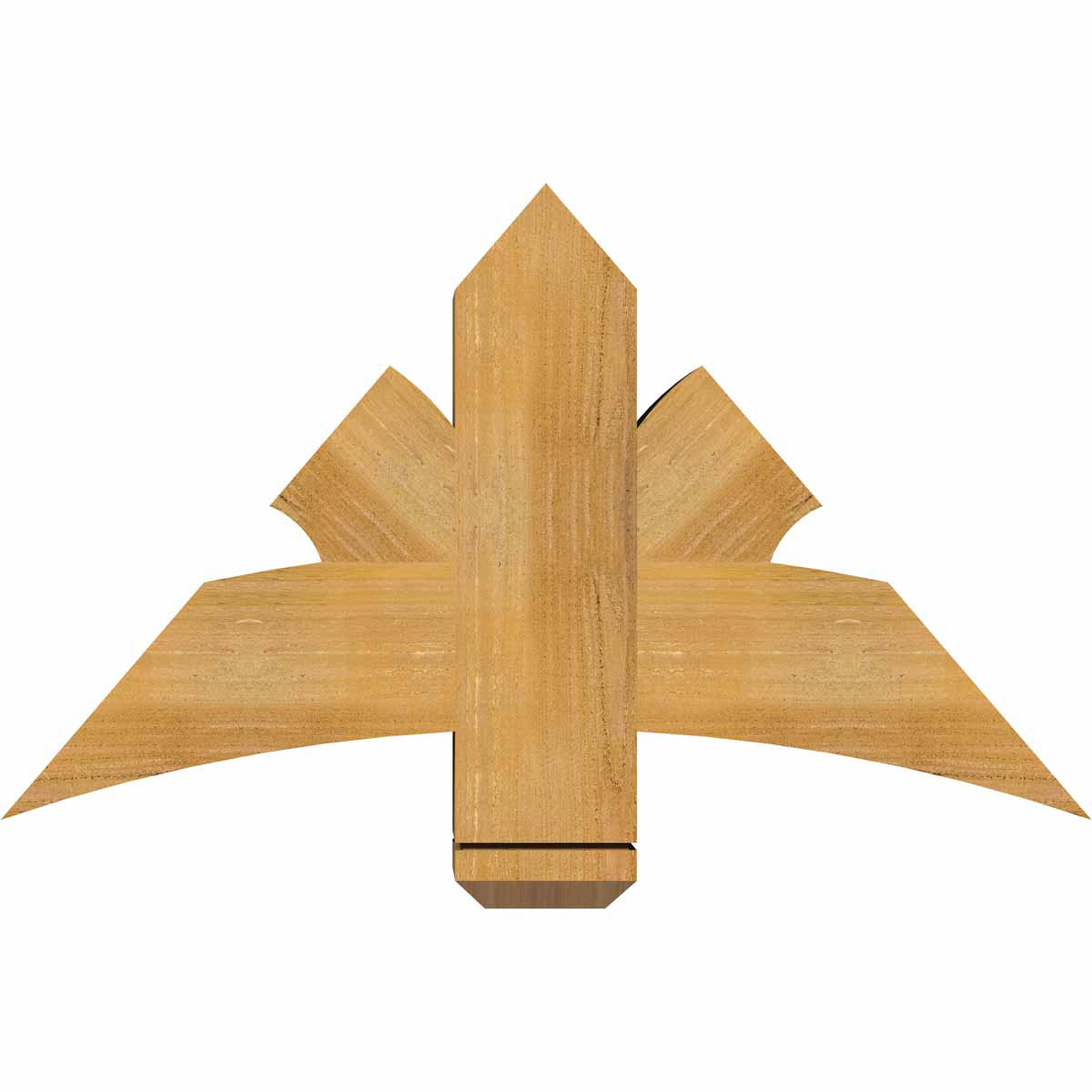 Davenport rough sawn timber gable bracketwestern red cedar for Cedar gable brackets