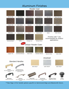 Design Specialties Finish Chart