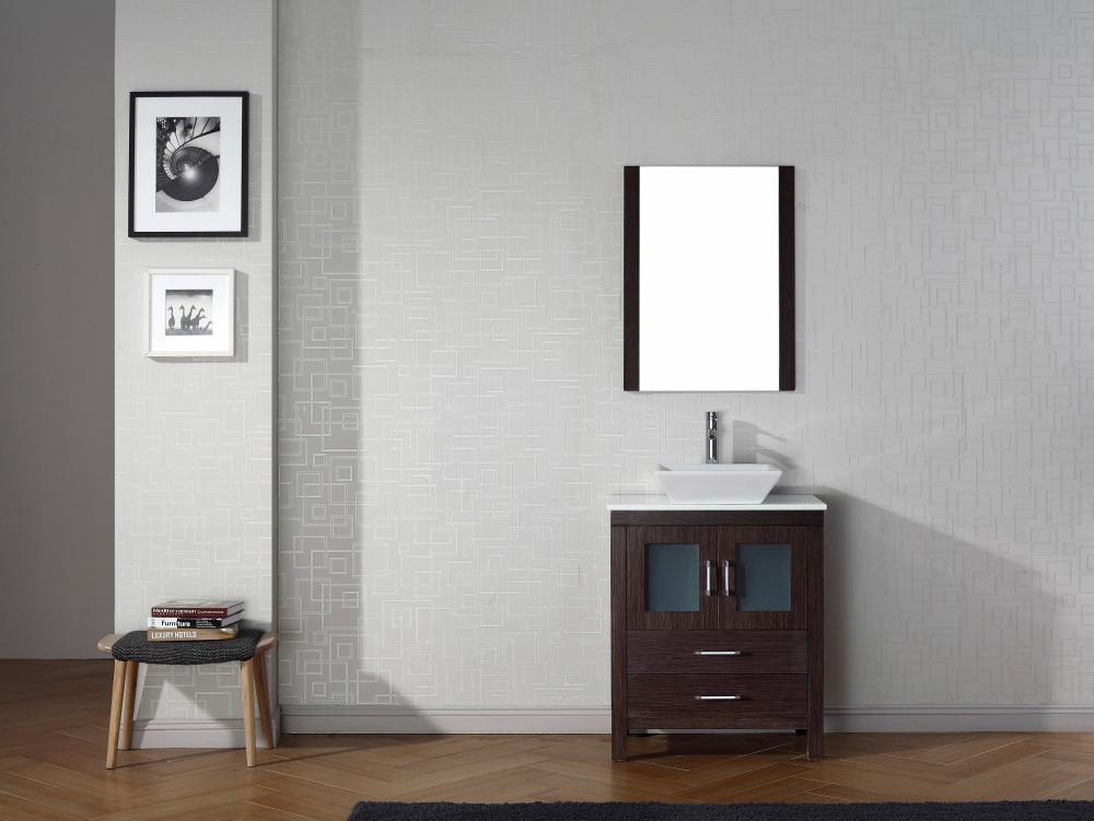 Virtu Usa Dior 28 Single Bathroom Vanity Cabinet Set In