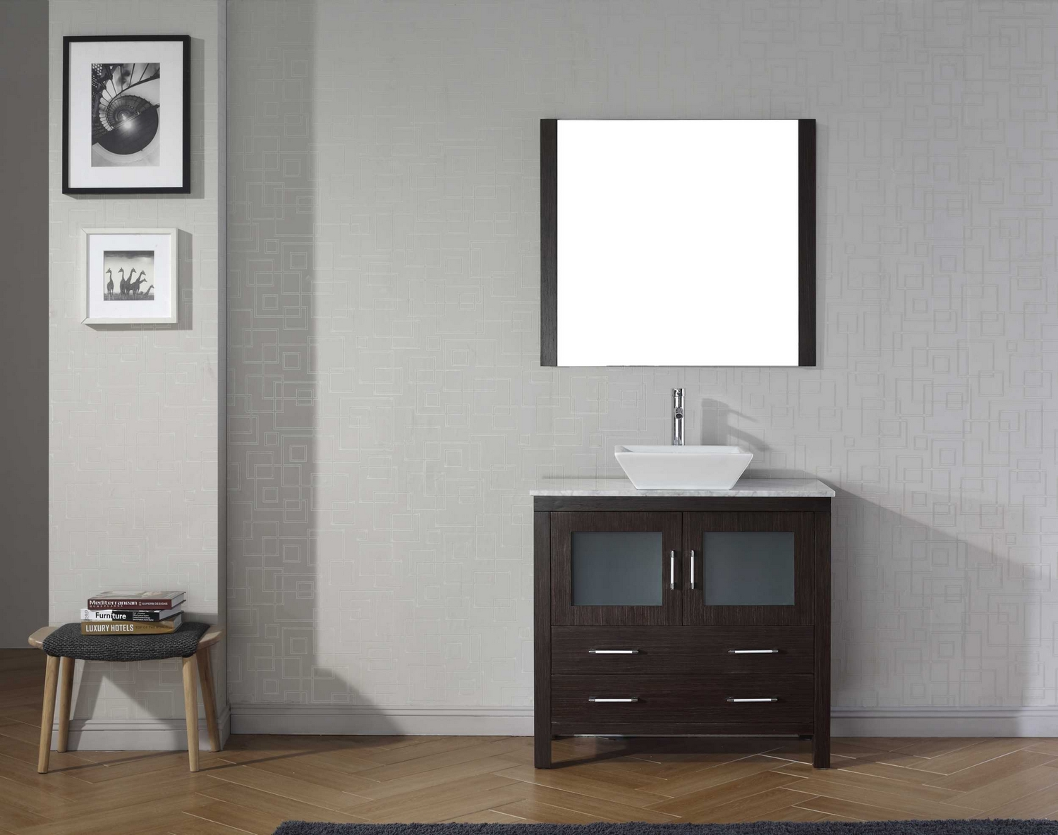 Virtu Usa Dior 36 Single Bathroom Vanity Cabinet Set In