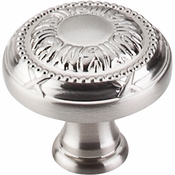 "Top Knobs - Edwardian Collection - Ribbon Knob 1 1/8"" - Brushed Satin Nickel - M1621"