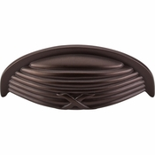 "Top Knobs - Edwardian Collection - Ribbon & Reed Cup Pull 3"" (c-c) - Oil Rubbed Bronze - M940"
