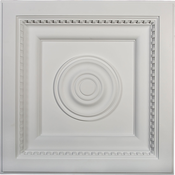 Ekena Millwork Ceiling Tile - Primed Polyurethane - CT24X24AS