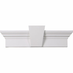 Ekena millwork crosshead with keystone primed for Exterior keystone molding
