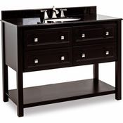 Elements - Bath Vanity - Black - VAN036-48-T
