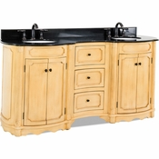 Elements - Bath Vanity - Buttercream - VAN014D-72-T
