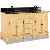 Elements - Bath Vanity - Buttercream - VAN061D-60-T
