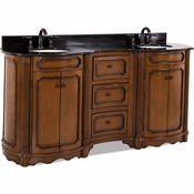 Elements - Bath Vanity - Walnut - VAN025D-72-T
