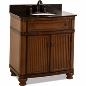 Elements - Bath Vanity - Walnut - VAN029-T