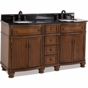 Elements - Bath Vanity - Walnut - VAN029D-60-T