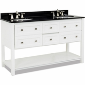 Elements - Bath Vanity - White - VAN066D-60-T