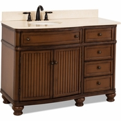 Elements - Bath Vanity - Walnut - VAN029-48-T-MC