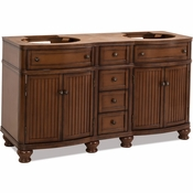 Elements - Bath Vanity - Walnut - VAN029D-60-NT