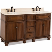 Elements - Bath Vanity - Walnut - VAN029D-60-T-MC