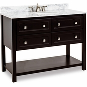 Elements - Bath Vanity - Black - VAN036-48-T-MW