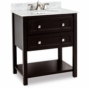 Elements - Bath Vanity - Black - VAN036-T-MW