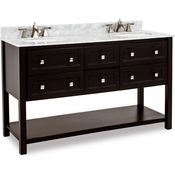 Elements - Bath Vanity - Black - VAN036D-60-T-MW