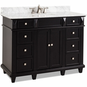 Elements - Bath Vanity - Black - VAN057-48-T-MW
