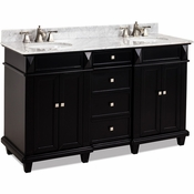 Elements - Bath Vanity - Black - VAN057D-60-T-MW
