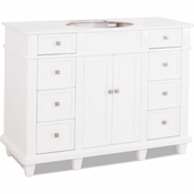 Elements - Bath Vanity - White - VAN094-48-NT