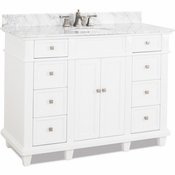 Elements - Bath Vanity - White - VAN094-48-T-MW