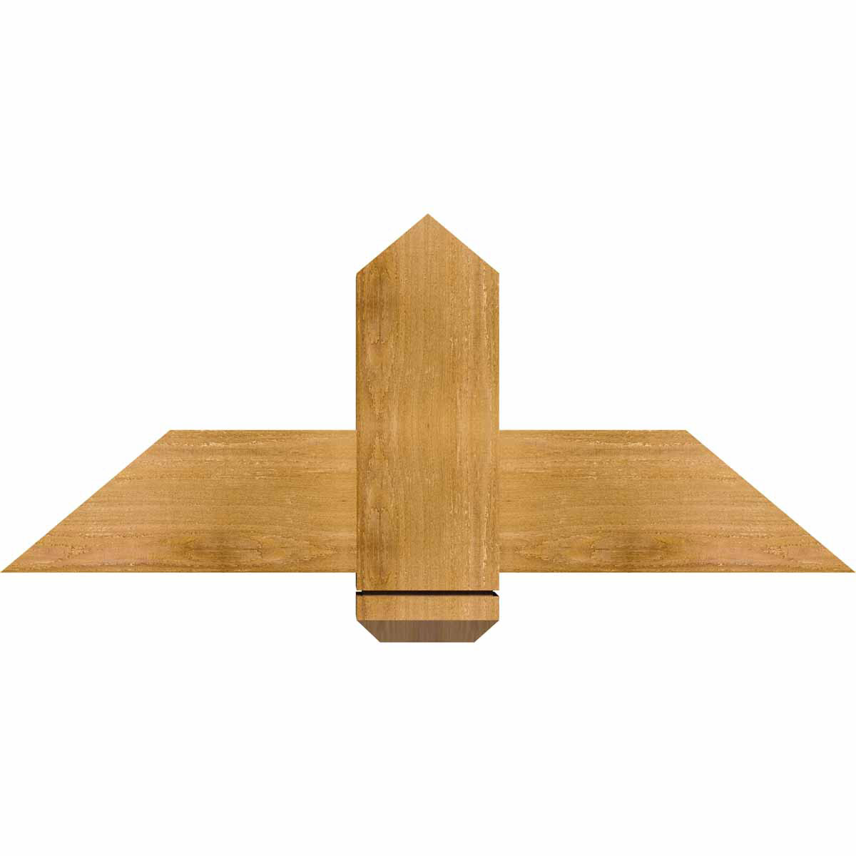 Eugene rough sawn timber gable bracketwestern red cedar for Cedar gable brackets