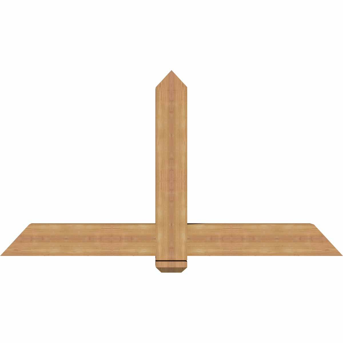 Eugene smooth timber gable bracketwestern red cedar for Cedar gable brackets