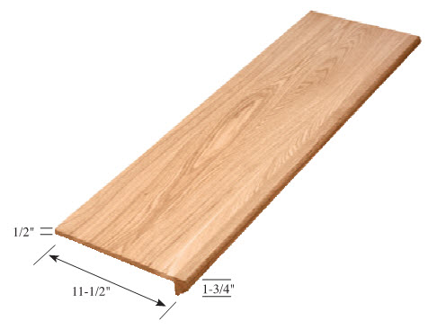 Carolina Stair Supply   False Tread Hickory   8073 FALTR 48 HIC