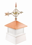 "Good Directions - 18"" Square Manchester Vinyl Cupola with Cottage Victorian Arrow - 2118MV-8842P"