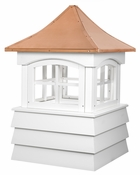 Good Directions - Guilford Vinyl Cupola with Copper Roof - 2118GV