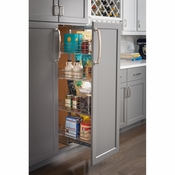 "Hardware Resources - 15"" Chrome Wire Pantry Pullout with Heavy Duty Soft-close Slides. - CPPO1574SC"