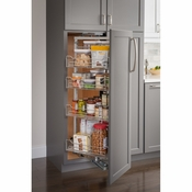 "Hardware Resources - 15""  Chrome Wire Pantry Pullout with Swingout Feature with Heavy Duty Soft-close Slides. - CPSO1574SC"