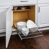 "Hardware Resources - Metal Basket Pullout Organizer for 21"" Base Cabinet. - MBPO21-R"