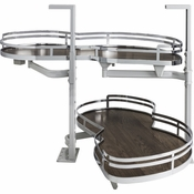 "Hardware Resources - 18"" Blind Corner Swing Out Right Handed Unit. - Walnut - BCSO218PCWD-RH"