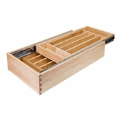 "Hardware Resources - Nested Cutlery Drawer for 18"" Base Cabinet. - CD18"