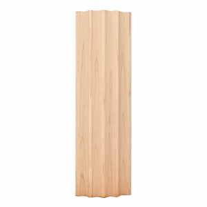 "Hardware Resources - 2-7/8"" X 3/4"" Curved Fluted Moulding - Hard Maple - FLTC2HMP"