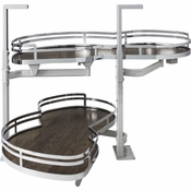"Hardware Resources - 21"" Blind Corner Swing Out Left Handed Unit. - Walnut - BCSO221PCWD-LH"