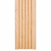 """Hardware Resources - 3-1/2"""" X 5/8"""" Fluted Moulding - Cherry - FLT3CH"""