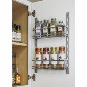 Hardware Resources - Door Mount Tray System  for Cabinet and Pantry Doors . - Polished Chrome - DMS3-PC-R