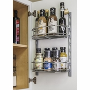 Hardware Resources - Door Mount Tray System  for Cabinet and Pantry Doors . - Polished Chrome - DMS6-PC-R
